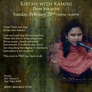Kirtan with Kamini on Feb 22, 2015