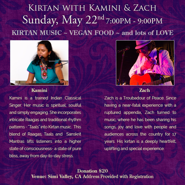 Kirtan with Kamini and Zach