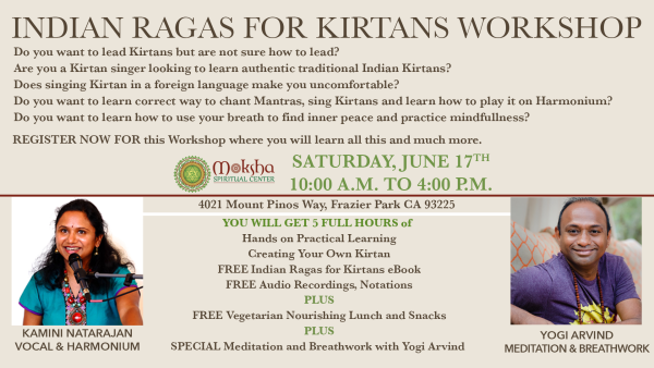 Kirtan Workshop with Kamini at Moksha Spiritual Center
