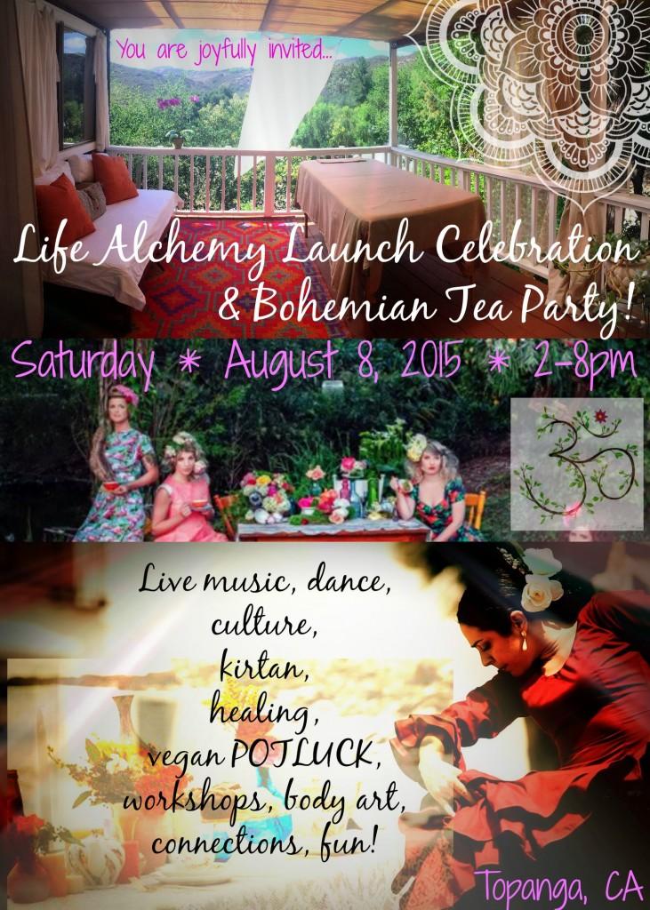 L.A. Launch Bohemian Tea Flyer