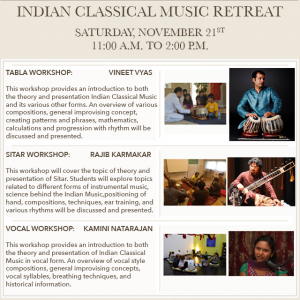 Indian Classical Music Retreat with Kamini Natarajan