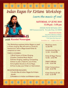 Indian Raga for Kirtan Workshop in Grass Valley