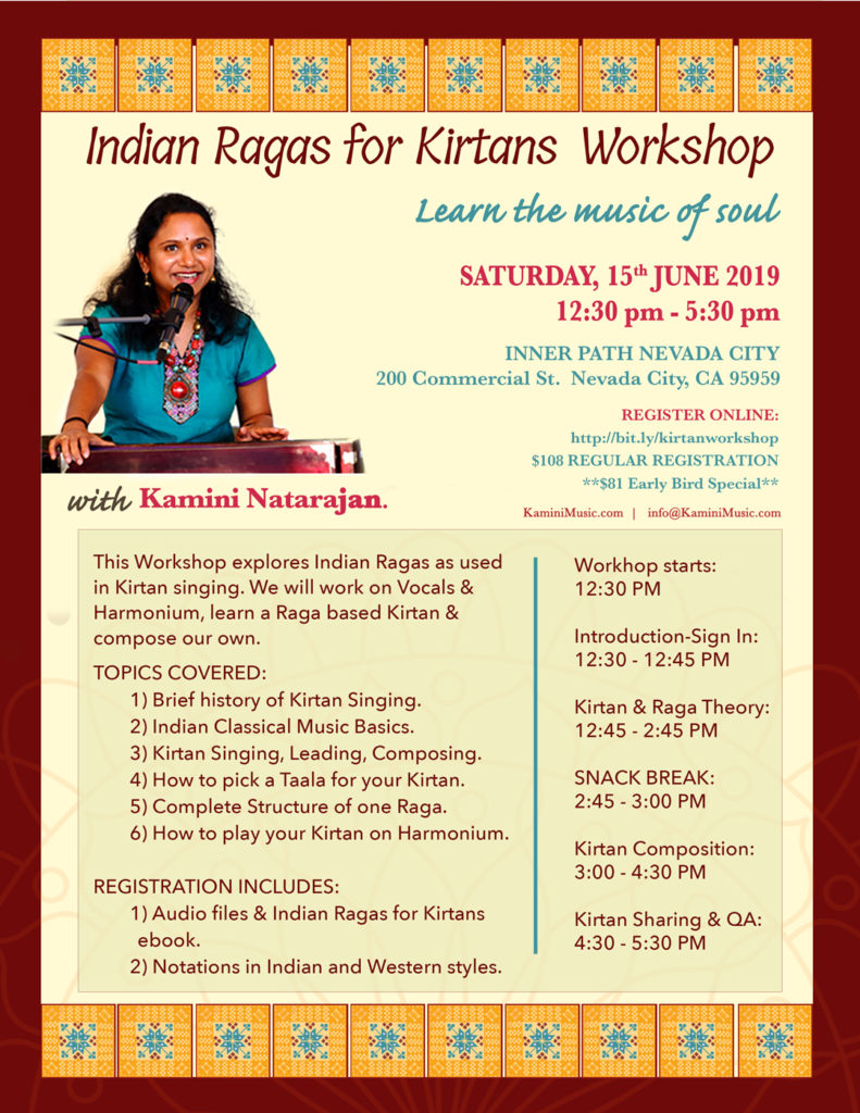 Indian Raga for Kirtan Workshop in Grass Valley