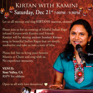 Kirtan with Kamini in Los Angeles
